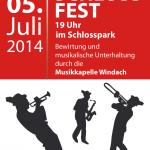 Plakat Schlossfest