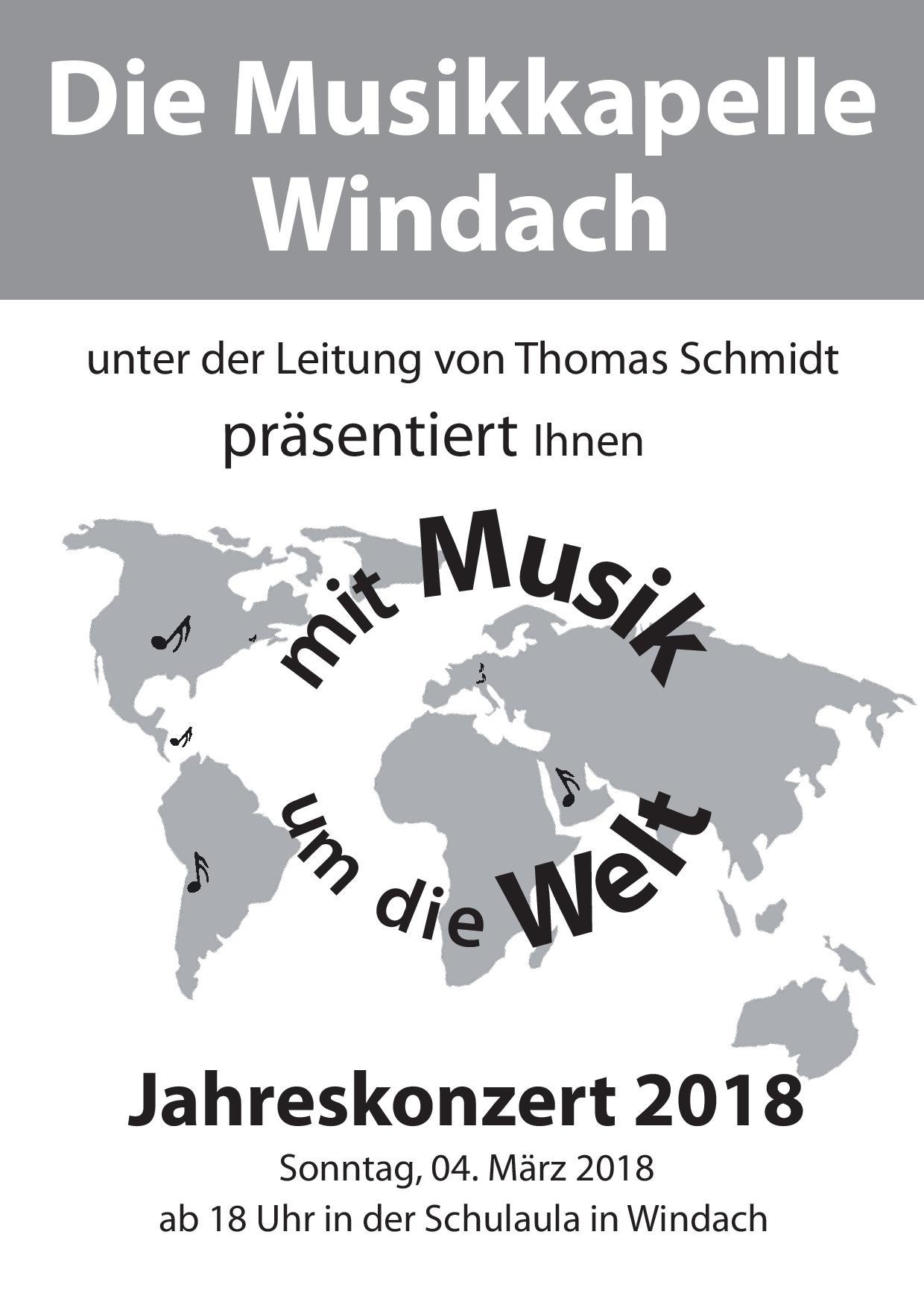 Plakat Jahreskonzert
